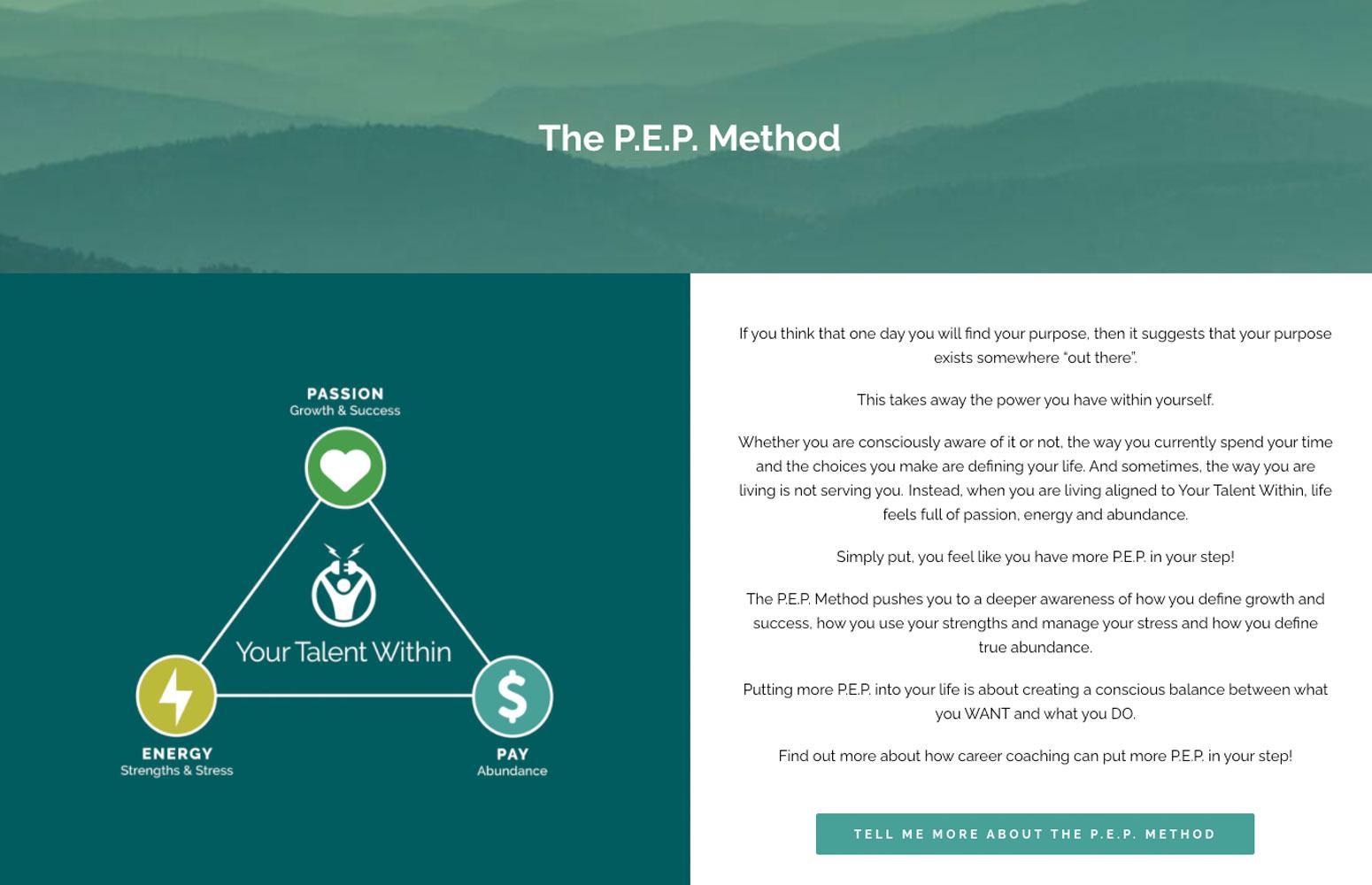 your-talent-within-wordpress-website-PEP-method