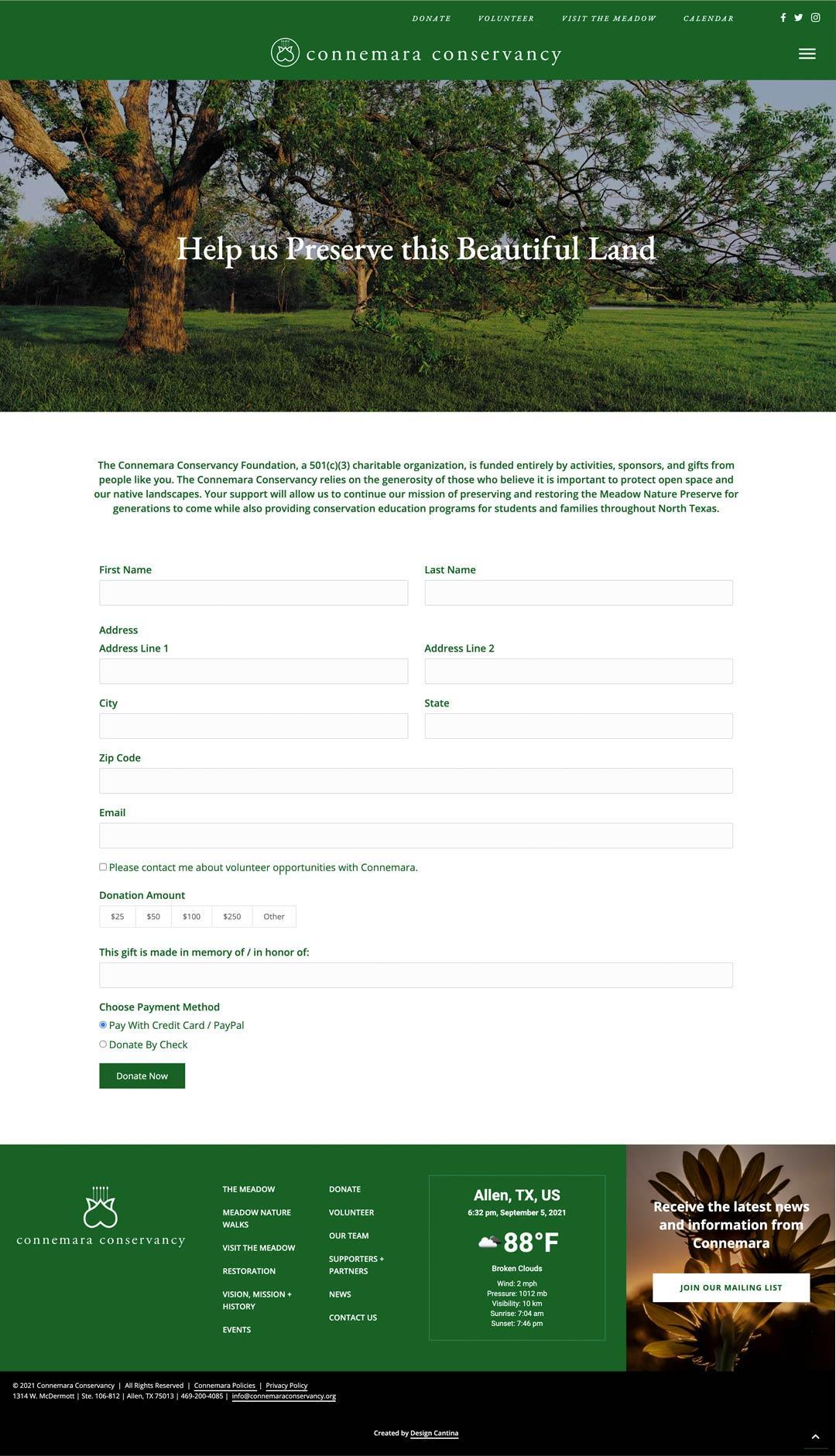 commemara-donate-page
